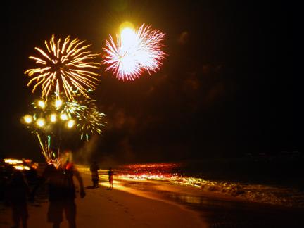 Fireworks & Surf